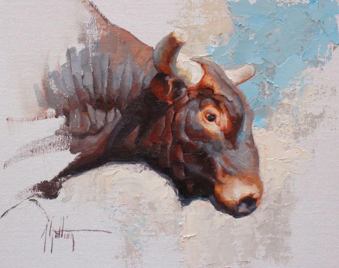 羚羊与耗牛,美国女画家阿比盖尔·古廷作品(下)插图69