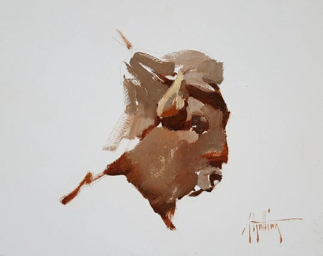 羚羊与耗牛,美国女画家阿比盖尔·古廷作品(下)插图71