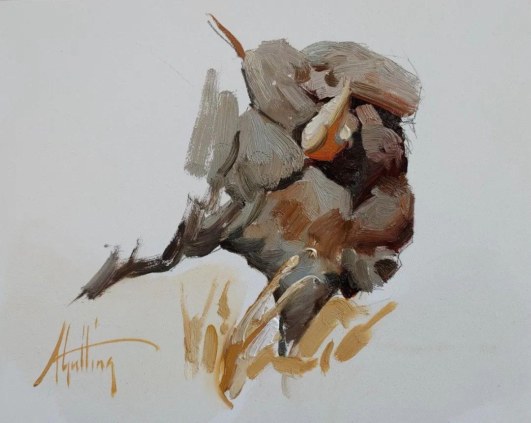 羚羊与耗牛,美国女画家阿比盖尔·古廷作品(下)插图73