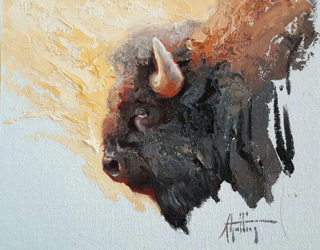羚羊与耗牛,美国女画家阿比盖尔·古廷作品(下)插图75