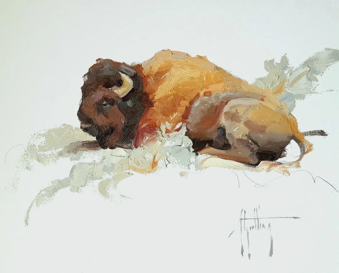 羚羊与耗牛,美国女画家阿比盖尔·古廷作品(下)插图77