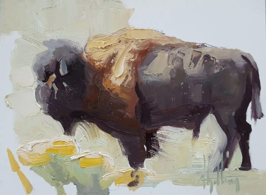 羚羊与耗牛,美国女画家阿比盖尔·古廷作品(下)插图79