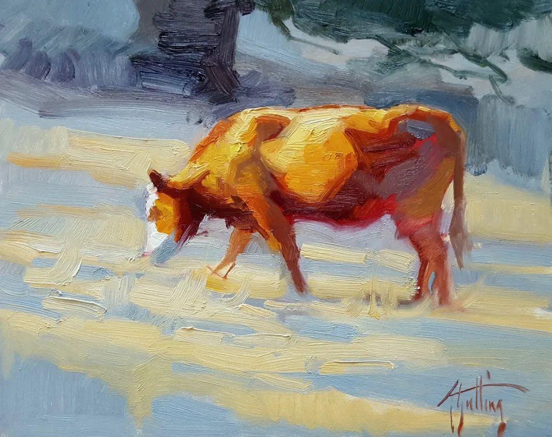 羚羊与耗牛,美国女画家阿比盖尔·古廷作品(下)插图81