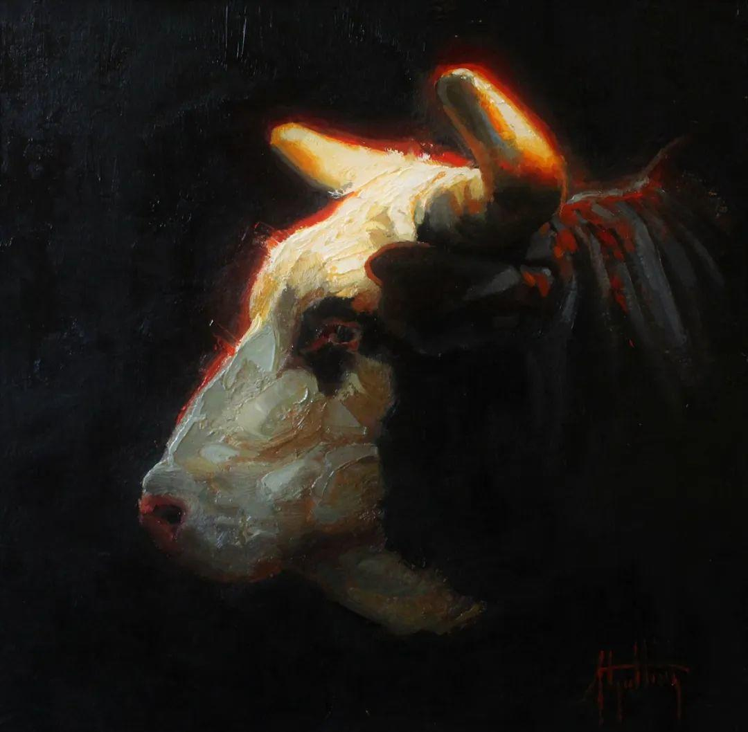 羚羊与耗牛,美国女画家阿比盖尔·古廷作品(下)插图85
