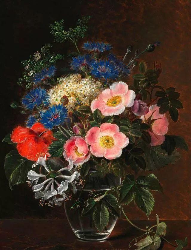 一两百年前的静物花卉作品插图1