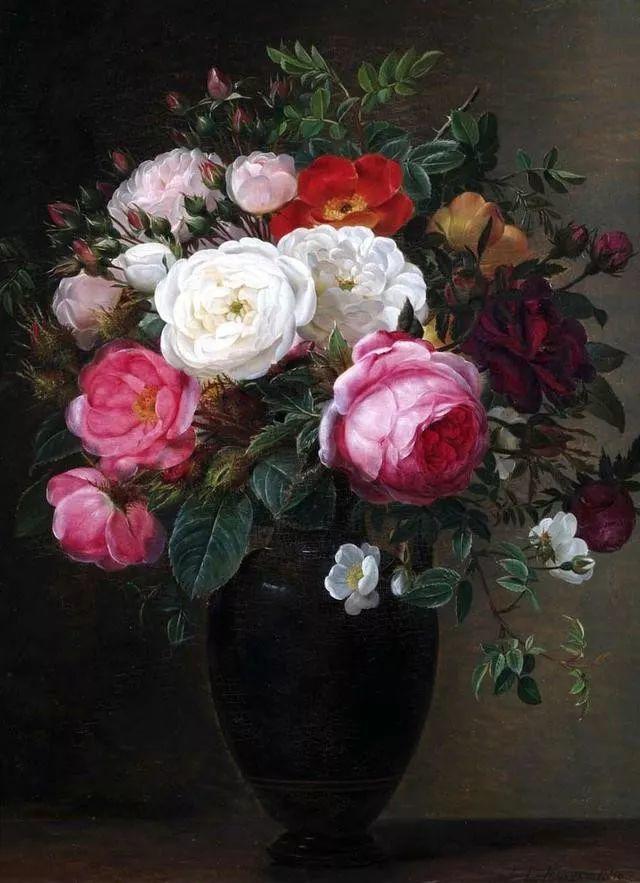 一两百年前的静物花卉作品插图3