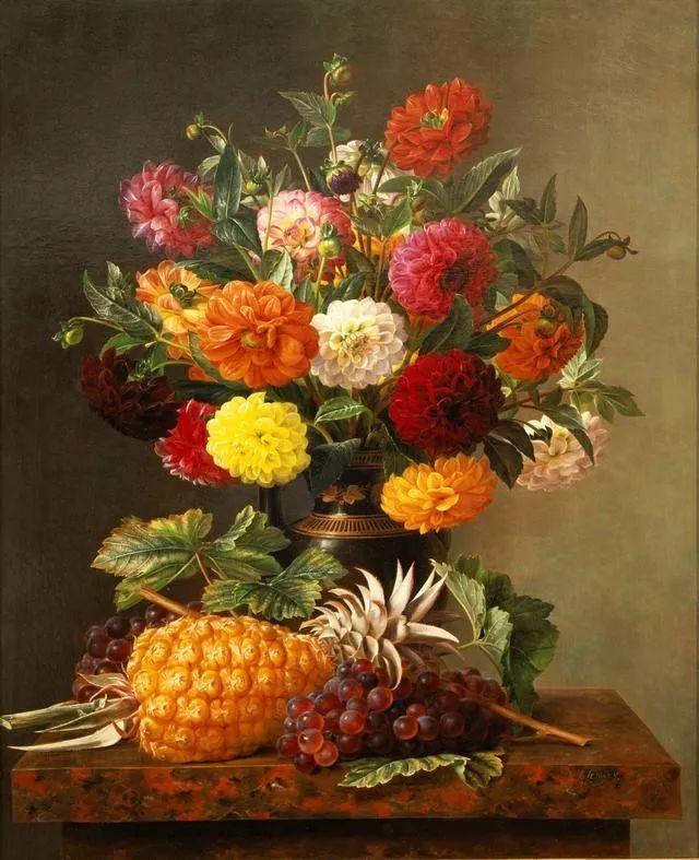 一两百年前的静物花卉作品插图5