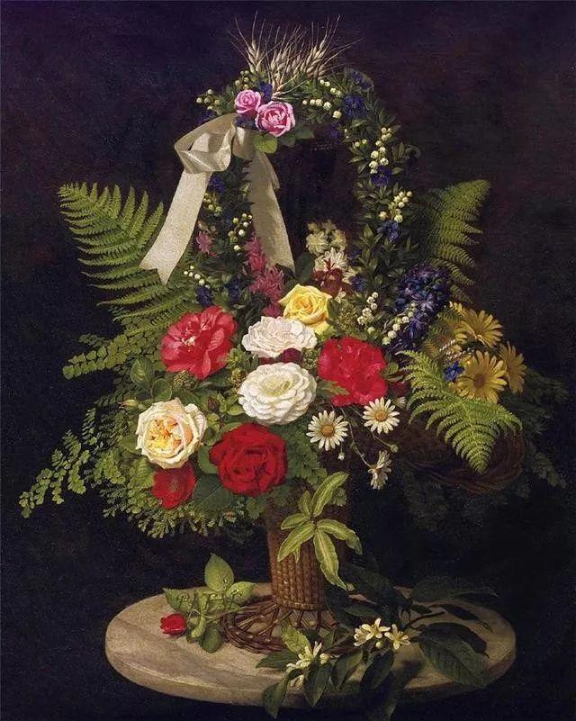 一两百年前的静物花卉作品插图15