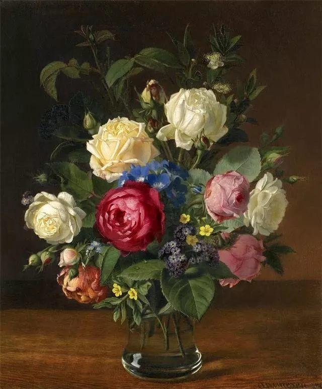 一两百年前的静物花卉作品插图17