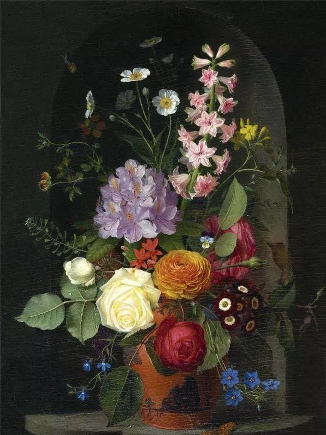 一两百年前的静物花卉作品插图19