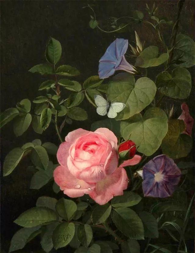 一两百年前的静物花卉作品插图21