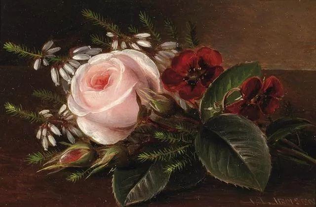 一两百年前的静物花卉作品插图25