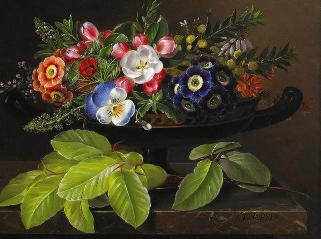 一两百年前的静物花卉作品插图41