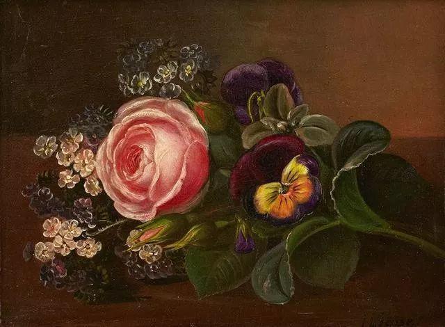 一两百年前的静物花卉作品插图43