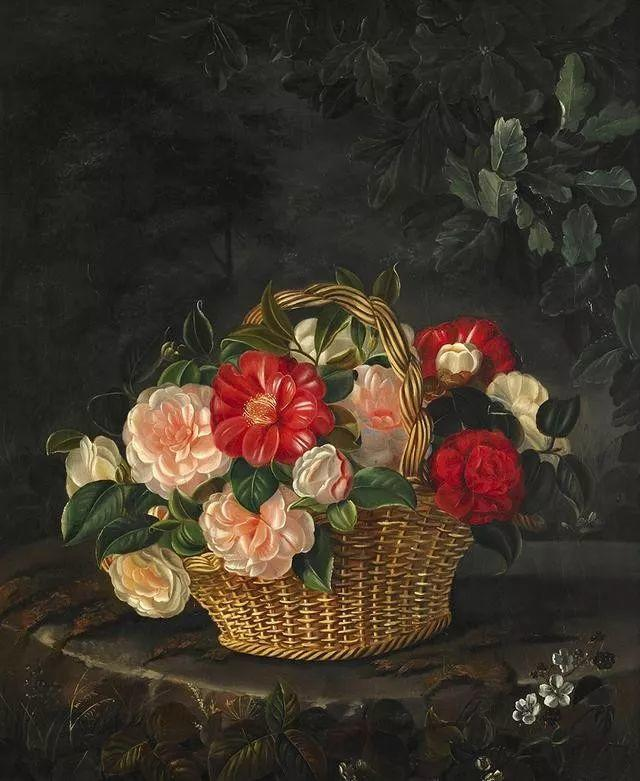 一两百年前的静物花卉作品插图47