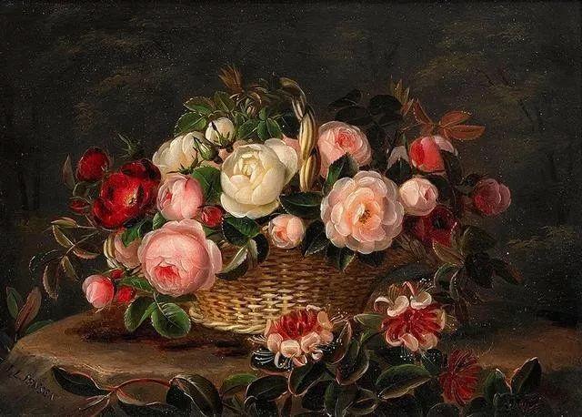 一两百年前的静物花卉作品插图49
