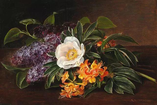 一两百年前的静物花卉作品插图55
