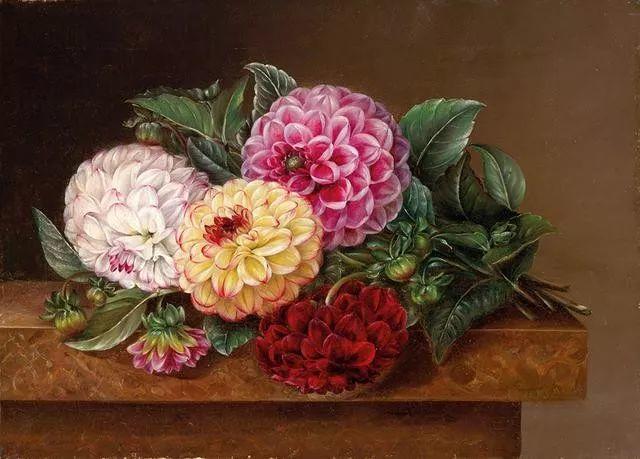 一两百年前的静物花卉作品插图65