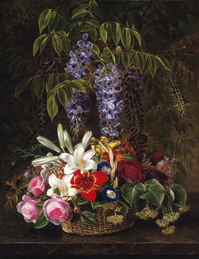 一两百年前的静物花卉作品插图69