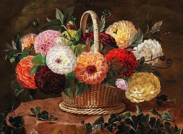 一两百年前的静物花卉作品插图73