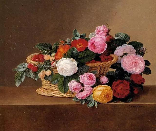 一两百年前的静物花卉作品插图75