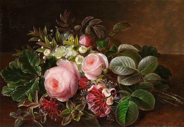 一两百年前的静物花卉作品插图83