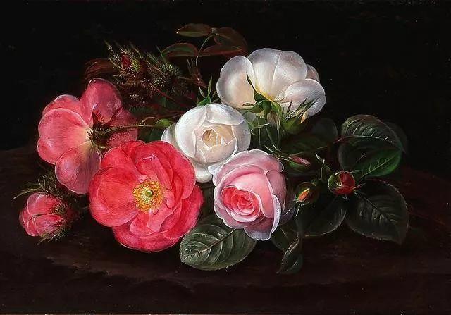 一两百年前的静物花卉作品插图85