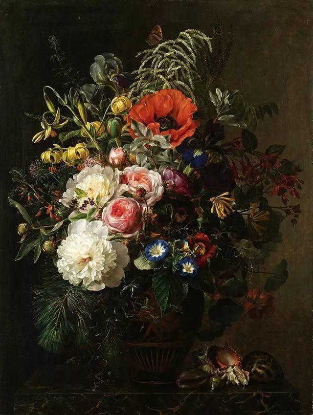 一两百年前的静物花卉作品插图89