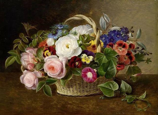 一两百年前的静物花卉作品插图105