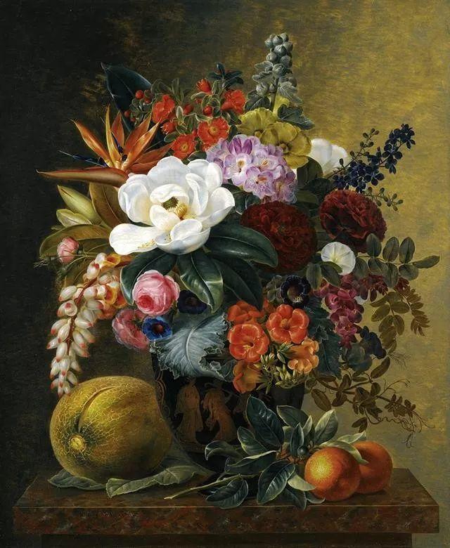 一两百年前的静物花卉作品插图111