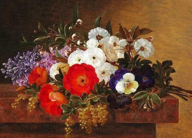 一两百年前的静物花卉作品插图117