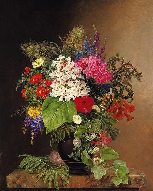 一两百年前的静物花卉作品插图125