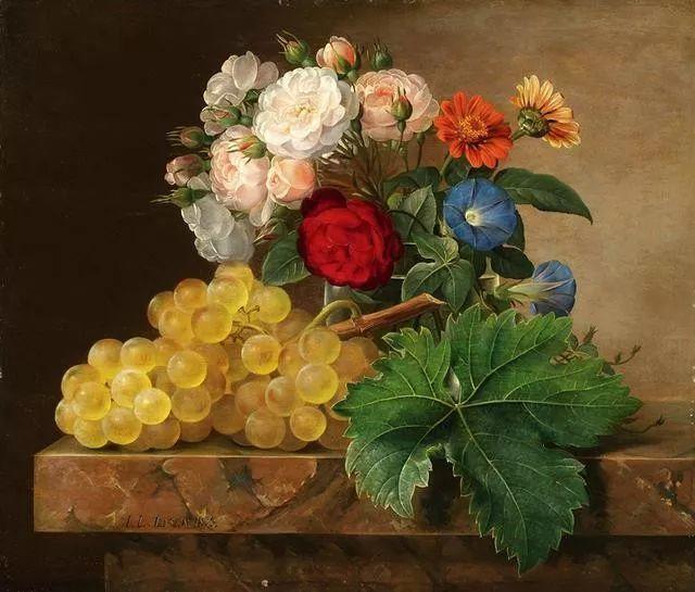 一两百年前的静物花卉作品插图127