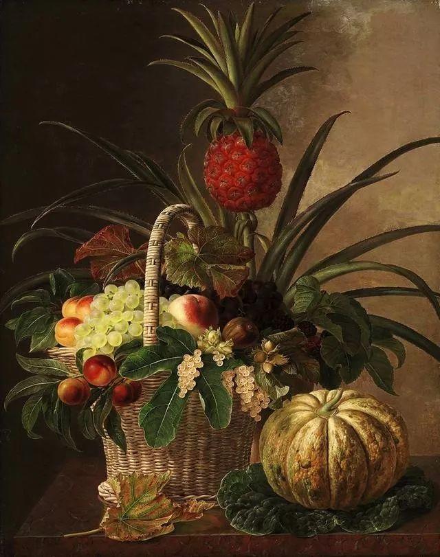 一两百年前的静物花卉作品插图129
