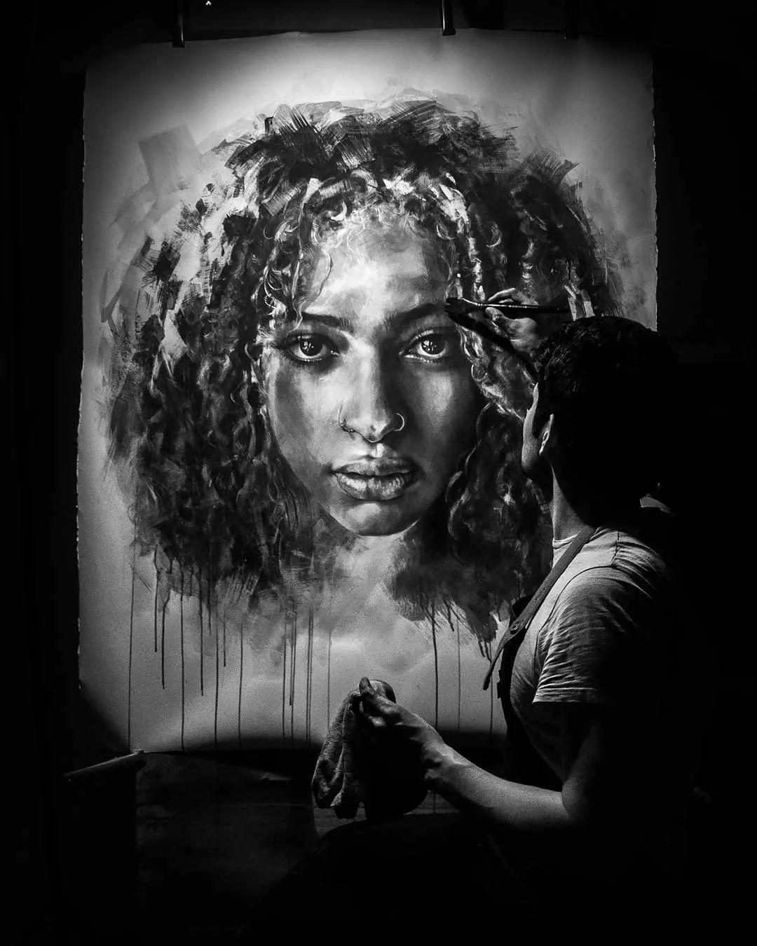 """""""灵魂绘画"""",西班牙画家阿丹·洛佩斯·阿莱曼插图1"""