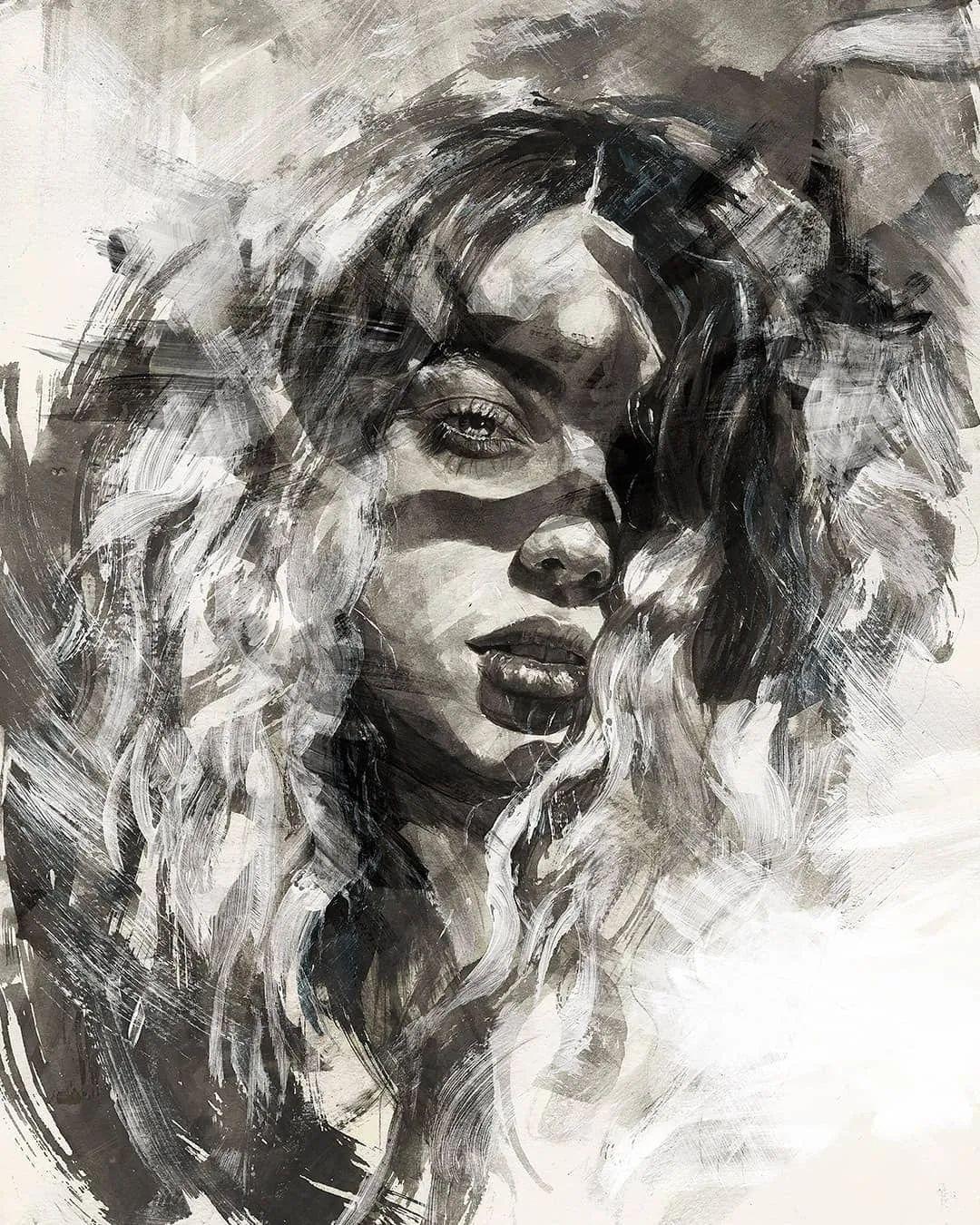 """""""灵魂绘画"""",西班牙画家阿丹·洛佩斯·阿莱曼插图9"""