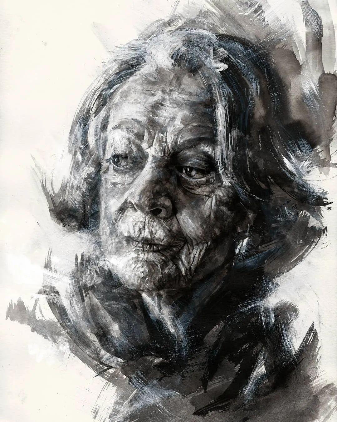 """""""灵魂绘画"""",西班牙画家阿丹·洛佩斯·阿莱曼插图39"""