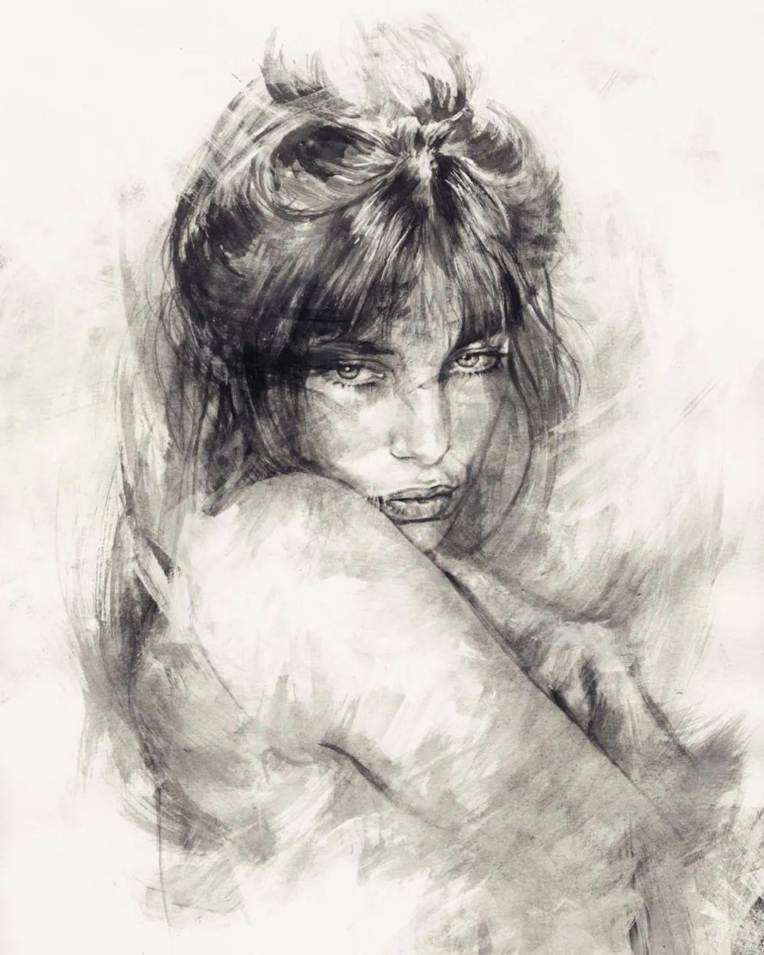 """""""灵魂绘画"""",西班牙画家阿丹·洛佩斯·阿莱曼插图67"""