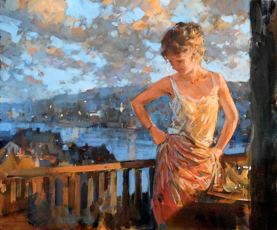 自然光与美人,英国画家保罗·赫德利插图5