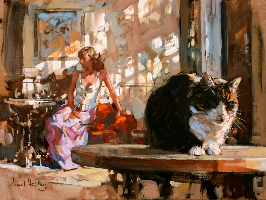 自然光与美人,英国画家保罗·赫德利插图7