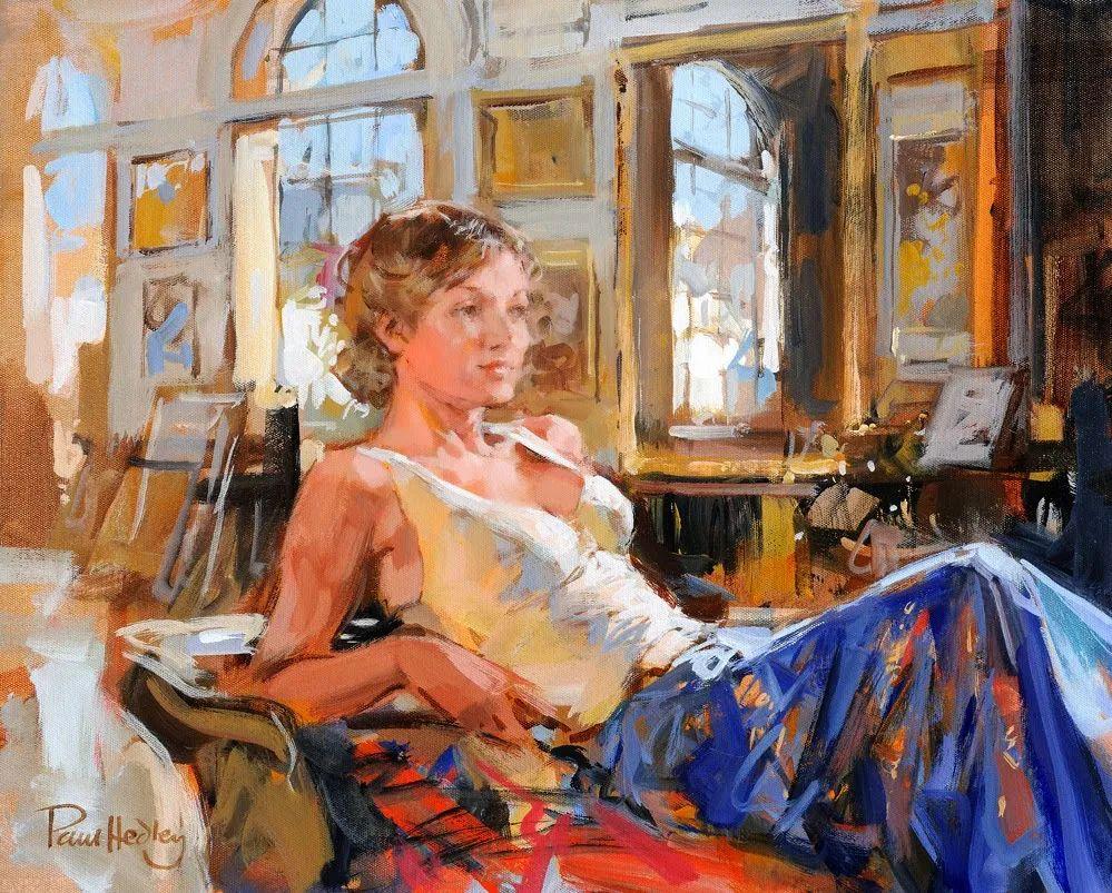 自然光与美人,英国画家保罗·赫德利插图11