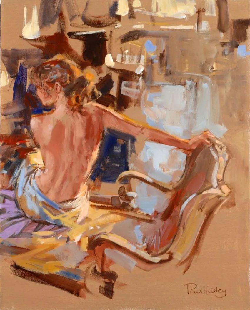 自然光与美人,英国画家保罗·赫德利插图13