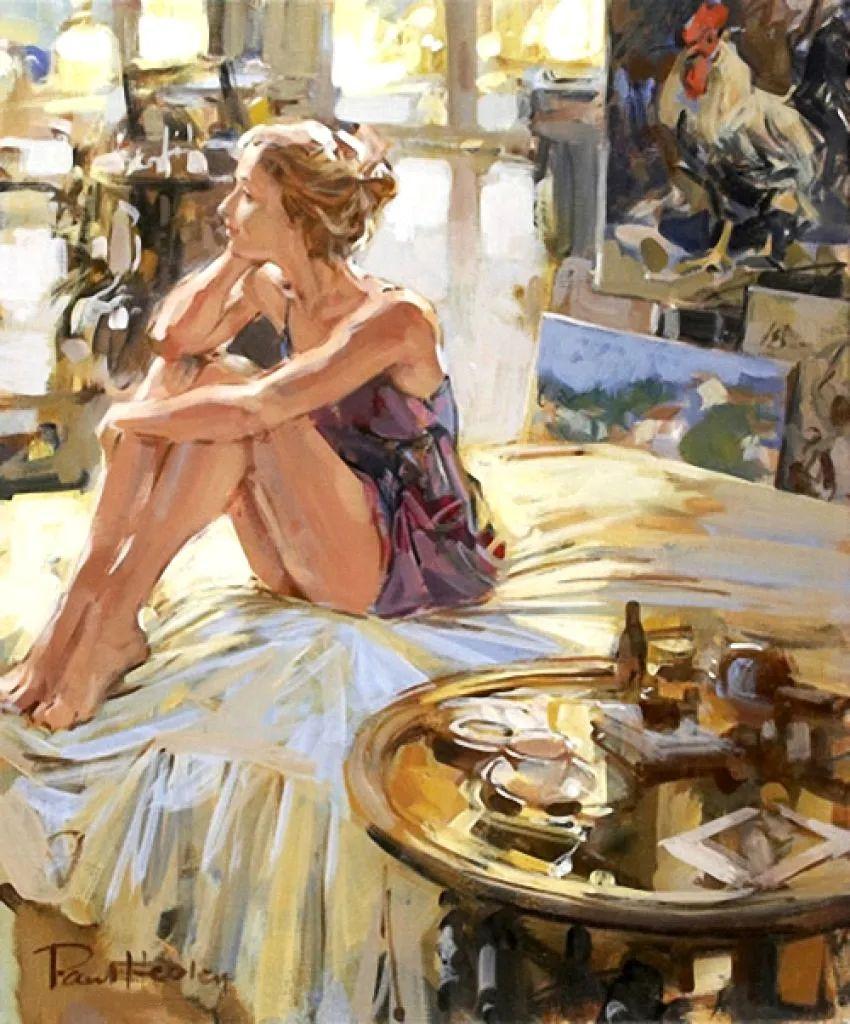 自然光与美人,英国画家保罗·赫德利插图15