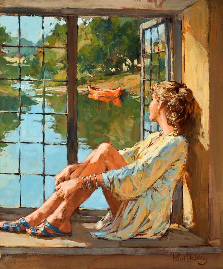 自然光与美人,英国画家保罗·赫德利插图17