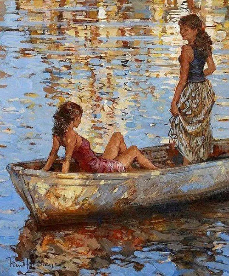 自然光与美人,英国画家保罗·赫德利插图19