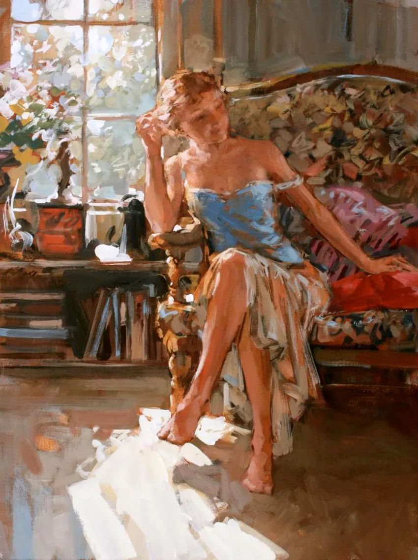 自然光与美人,英国画家保罗·赫德利插图25