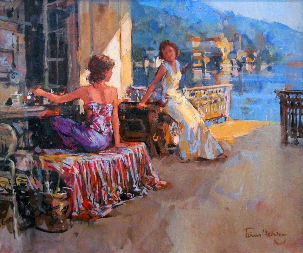 自然光与美人,英国画家保罗·赫德利插图27