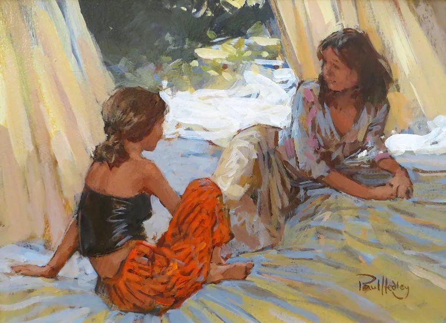 自然光与美人,英国画家保罗·赫德利插图29
