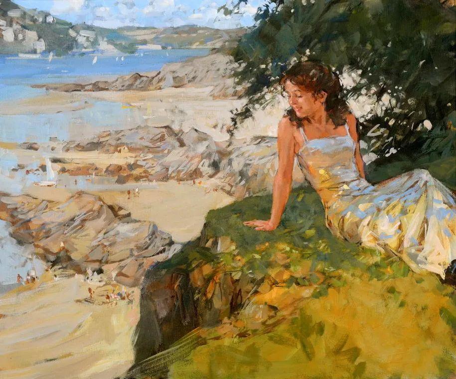 自然光与美人,英国画家保罗·赫德利插图31