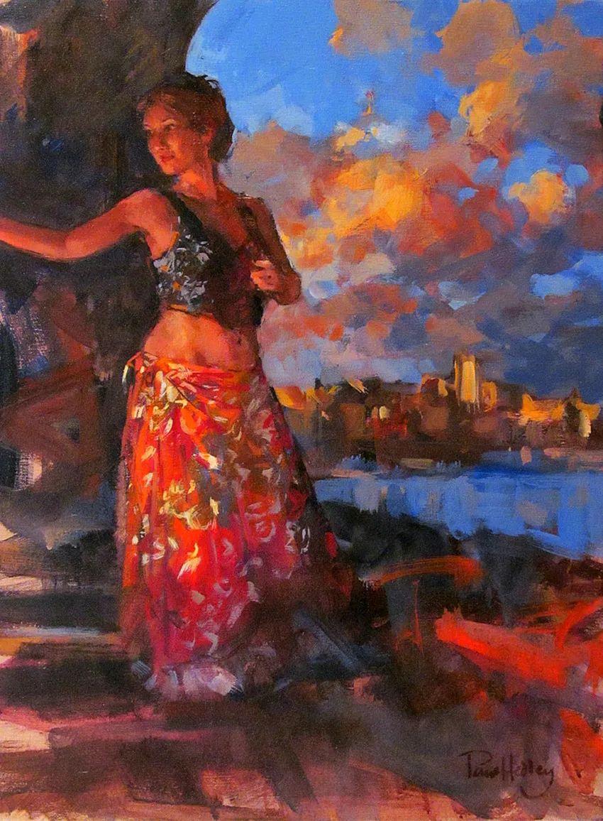 自然光与美人,英国画家保罗·赫德利插图33
